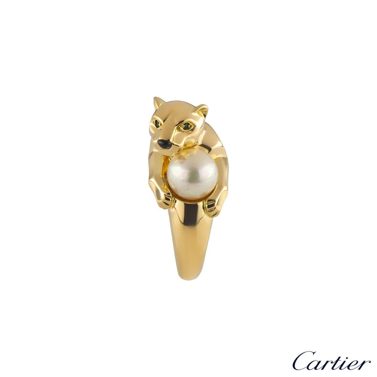 Cartier Yellow Gold Panthere Ring
